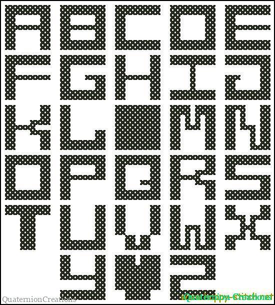 Алфавит для вышивки крестом