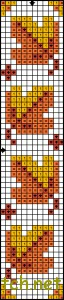 Autumn bookmark cross stitch pattern