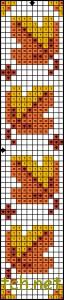 Autumn bookmark cross stitch pattern