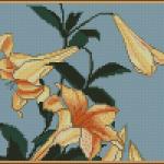 "<!--:en-->Hokusai Lilies free cross stitch pattern<!--:--><!--:ru-->Схема для вышивки крестиком ""Лилии""<!--:-->"