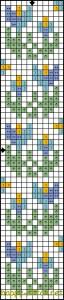 Spring bookmark free cross stitch pattern