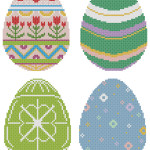 Easter eggs free patterns pack from Happy Stitch