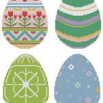 Пасхальные яички - коллекция авторских схем для вышивки