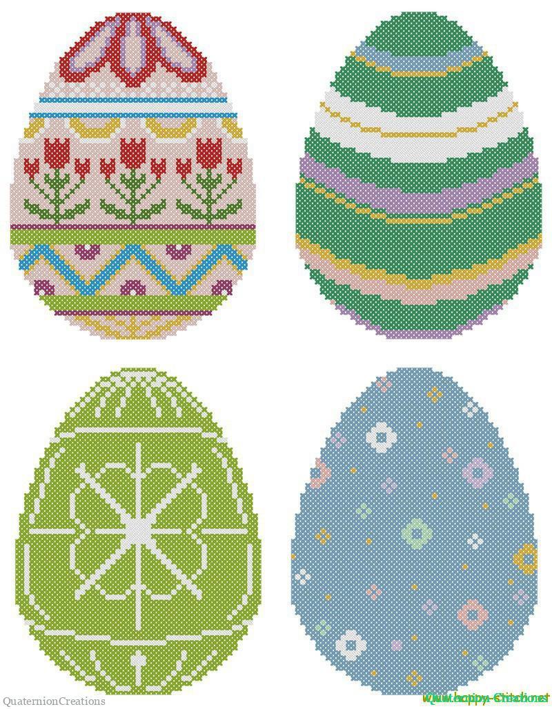 схема вышитого яйца