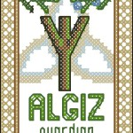 Rune Algiz free cross stitch pattern