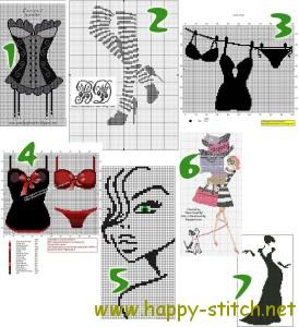 I'm a lady - free cross stitch patterns collection