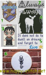 Harry Potter free cross stitch patterns
