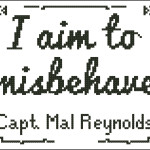 I aim to misbehave cross stitch pattern