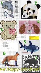 Подборка недели: животные от мала до велика - бесплатные схемы для вышивки