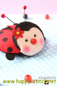 Beautiful felt ladybird