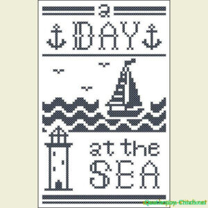 A Day at the Sea cross stitch pattern #1