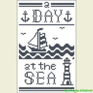 A Day at the Sea cross stitch pattern #2