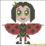 Chibi ladybird girl pattern