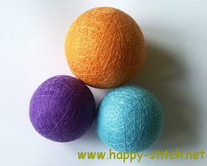 Balls for temari embroidery