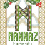 Rune Mannaz (Man, Humanity) cross stitch pattern
