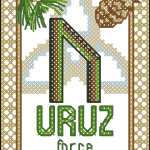 Rune Uruz cross stitch pattern