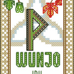 Rune Wunjo cross stitch pattern