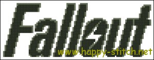 Логотип игры Фоллаут: схема для вышивки