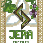 Jera rune (the harvest) free cross stitch pattern