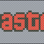 Wasted (GTA inspired) cross stitch pattern