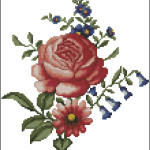 Vintage Folk Art Flowers pattern
