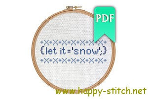 Let it snow funny JavaScript cross stitch design