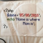 Home is where Mom is – a stitching by Alexandra