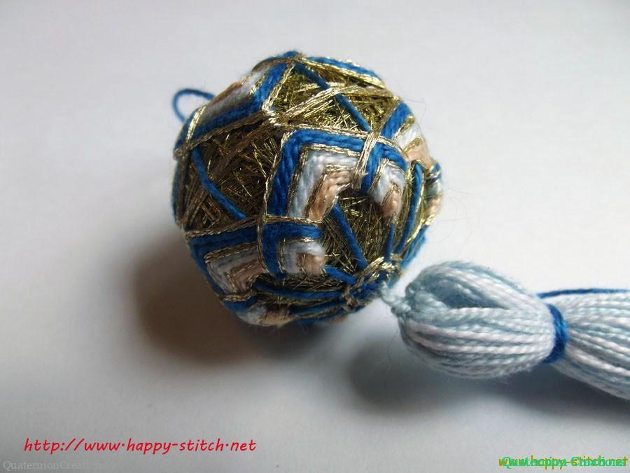 Gloden blue temari