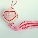 Temari with swirl hearts