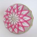 Pink chrysanthemum temari