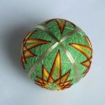 Green modified kiku temari