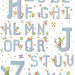 Fairy alphabet free cross stitch patterns - full list