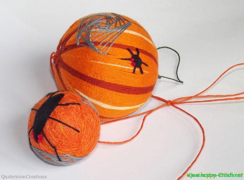 Halloween temari balls