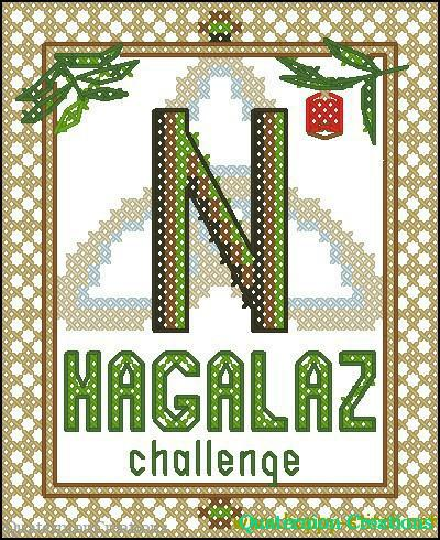 Rune Hagalaz cross stitch pattern