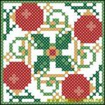 Christmas biscornu free cross stitch pattern