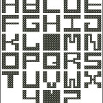 Malevitch cross stitch alphabet