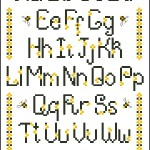 Busy Bee free cross stitch alphabet sampler