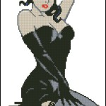 Pin-up Girl free cross stitch pattern