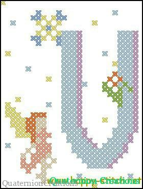 Fairy Alphabet V free cross stitch pattern