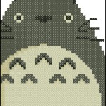 Totoro bookmark free cross stitch pattern