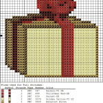 Simple present cross stitch pattern