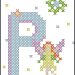 Fairy Alphabet P free cross stitch pattern