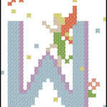 Fairy Alphabet W free cross stitch pattern