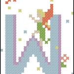 Fairy Alphabet W free cross stitch pattern