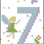 Fairy Alphabet Z free cross stitch pattern