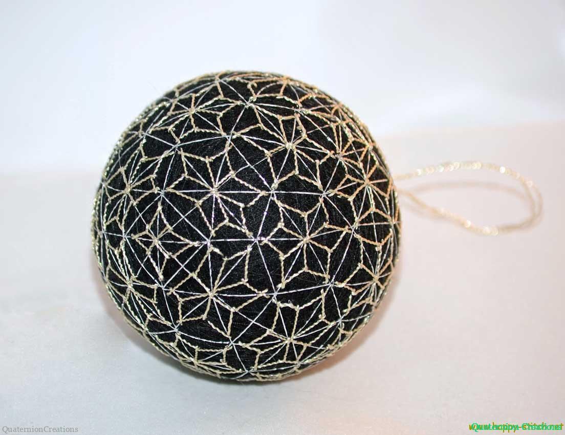 Black temari with stars