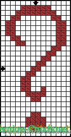 Question mark free cross stitch pattern