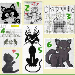 Free cat cross stitch patterns