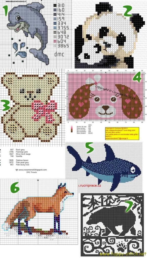 Free cross stitch patterns with animals