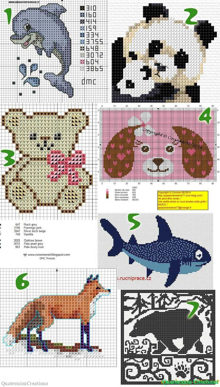 Free cross stitch patterns with animals
